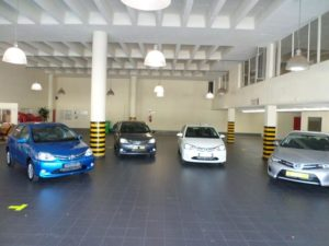CMH Toyota Alberton- Showroom floor with the Toyota Etios