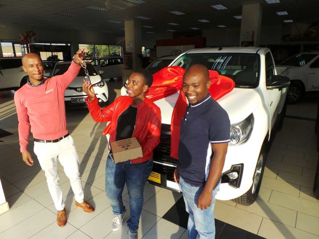 CMH TOyota- New-Cars-sales-executive-Lonwabo-with-new-customers