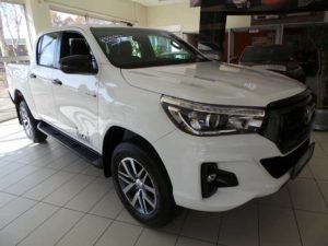 CMH Toyota- White new Toyota hilux on display