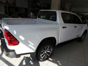 CMH Toyota- rear veiw of the new toyota hilux in white