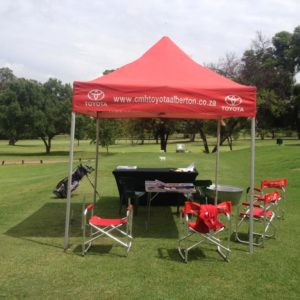 CMH Toyota Alberton at Bell Equipment Golf Day, Water hole display