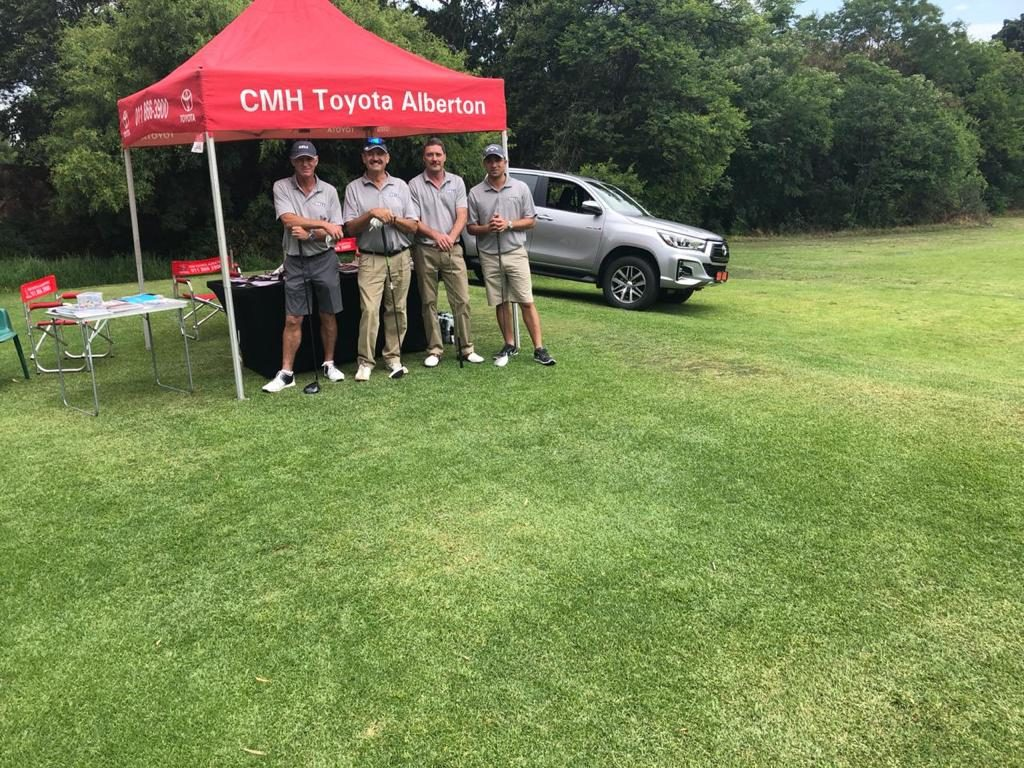 CMH Toyota Alberton at Bell Equipment Golf Day, Water hole with players