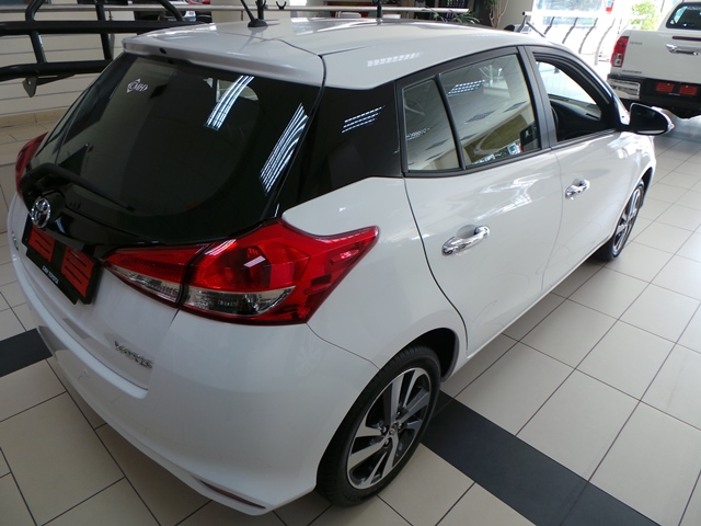 CMH Toyota Alberton- White Toyota Yaris back view