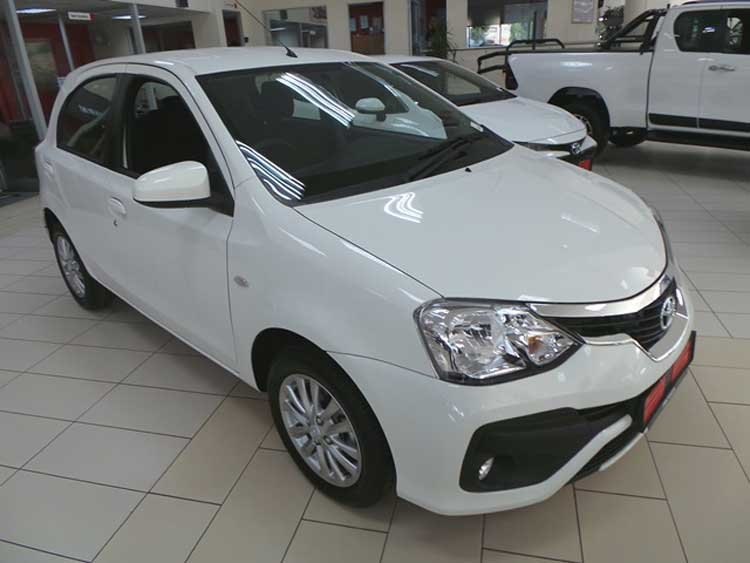 New white Toyota Etios display